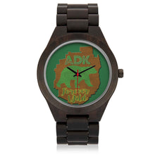 ADK Forever Wild Bear/Map Wood Watch - Honeybee's Tees