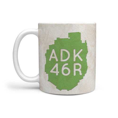 ADK 46R Topo Peak List Mug - Honeybee's Tees
