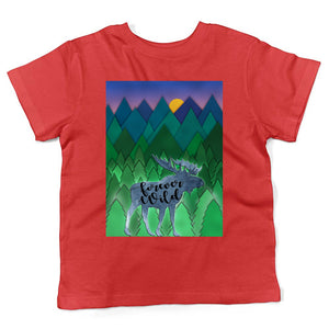 Moose & Bear Trees & Mountains Kids T-shirt - Honeybee's Tees