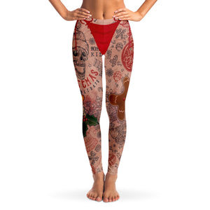 Harry Legs with Holiday Tats Leggings - Honeybee's Tees