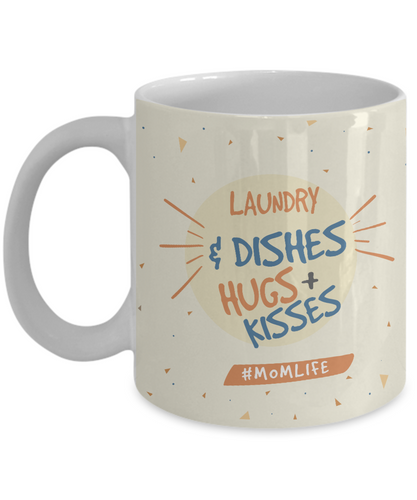 Laundry & Dishes Hugs + Kisses #MOMLIFE - Honeybee's Tees