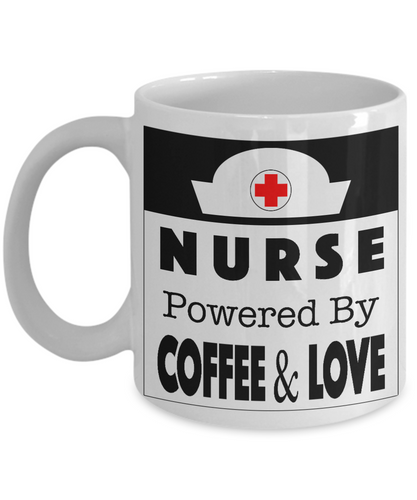 Nurse, Powered By COFFEE & LOVE - Honeybee's Tees