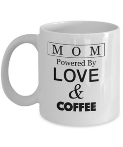 MOM... Powered by LOVE and COFFEE - Honeybee's Tees