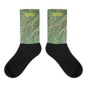 Adirondack High Peaks Topo Socks - Honeybee's Tees