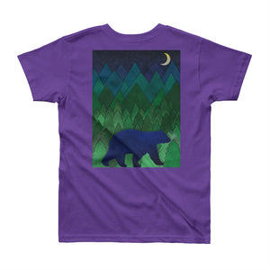 Moose, Bear, Mountains, Trees Youth 2 side T-Shirt - Honeybee's Tees