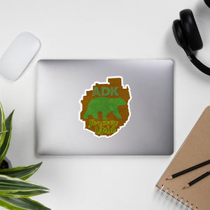 ADK Forever Wild Bear Bubble-free stickers - Honeybee's Tees