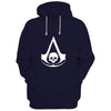 Image of Assassin's Creed Black Flag Logo-Blue Hoodie
