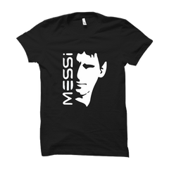 MESSI With Face -Half Sleeve Black