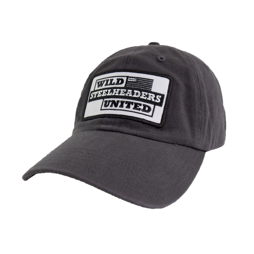 Old School Hat - Gray with embroidered patch