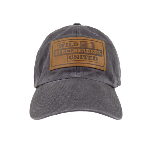 Winter Run Hat -  Gray with suede patch