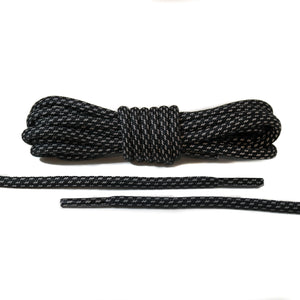 Black 3M Striped Rope Laces