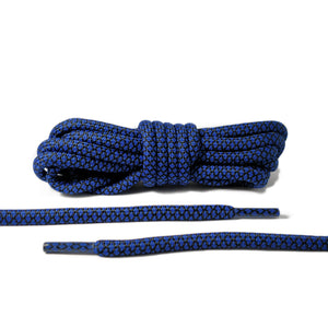 Black and Blue Rope Laces