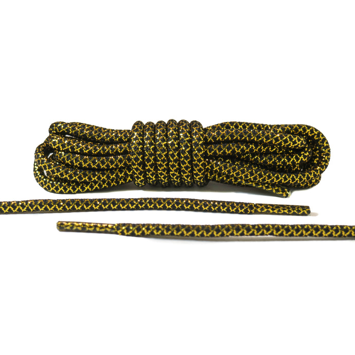 Black and Gold Rope Laces 2.0