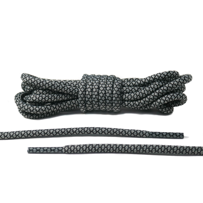 Black and Light Gray Rope Laces