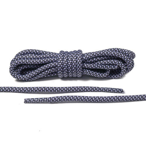 Black and Light Purple Rope Laces
