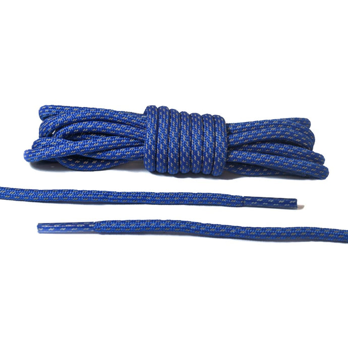 Blue 3M Striped Rope Laces