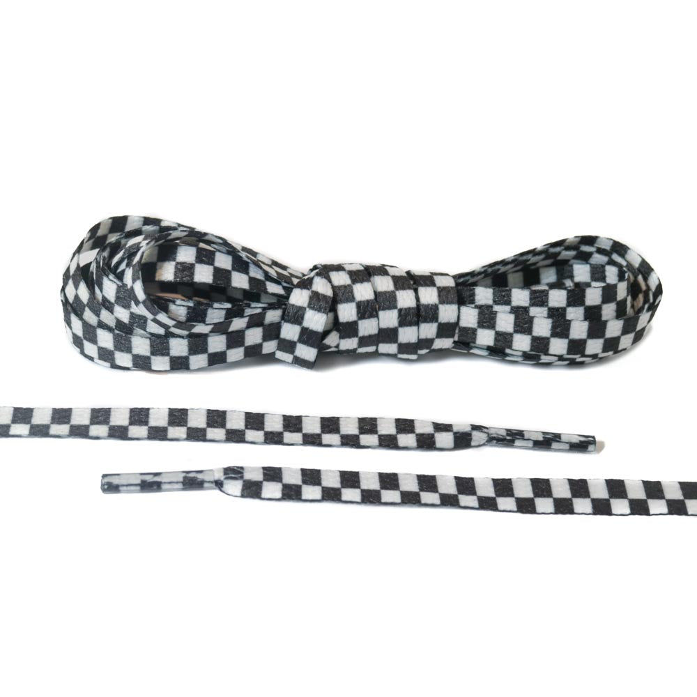 Black and White Checkered Laces