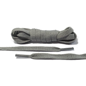 Dark Gray Flat Laces - Thin