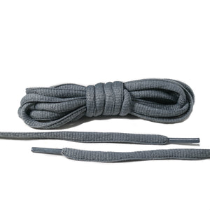 Dark Gray Oval Laces