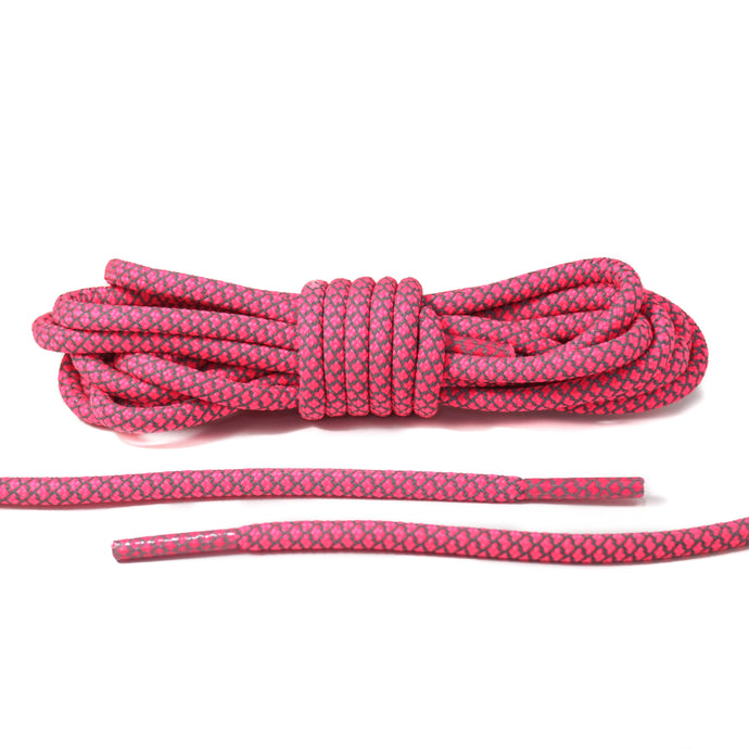 Neon Pink Reflective Rope Laces
