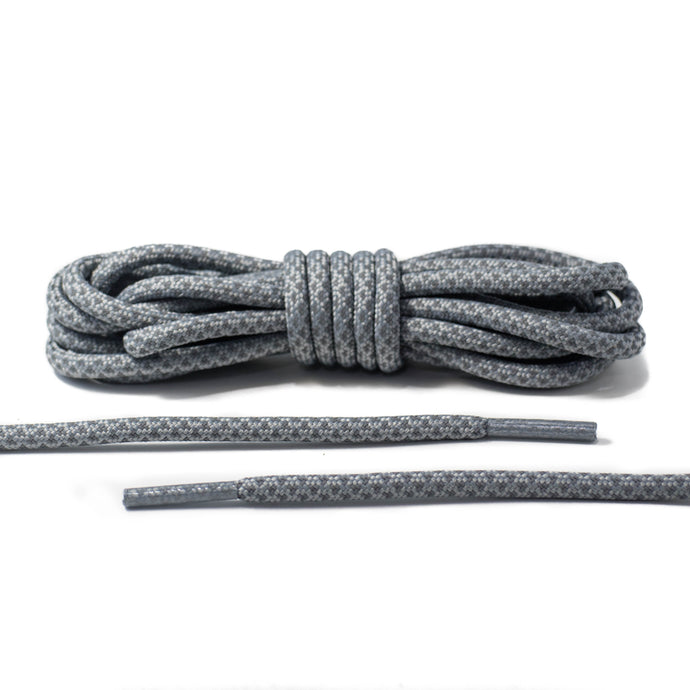 Gray 3M Reflective Rope Laces 2.0