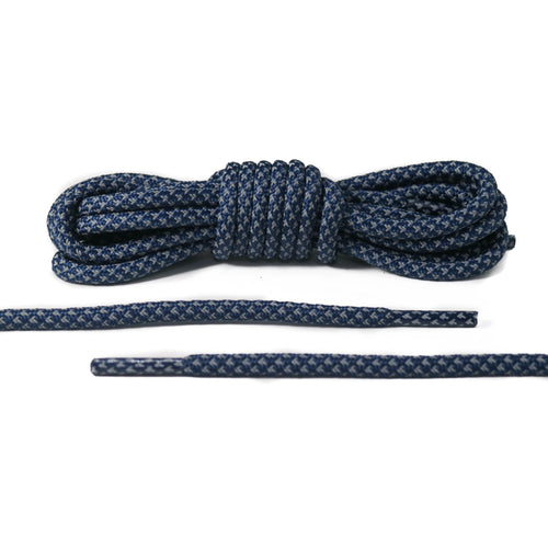 Navy Blue Reflective Rope Laces 2.0