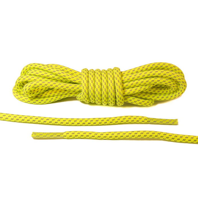 Neon Yellow 3M Striped Rope Laces