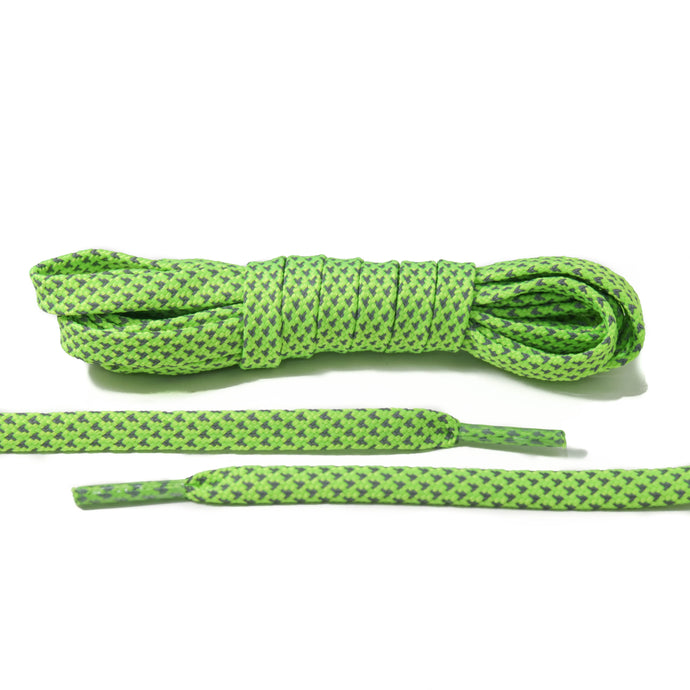 Neon Green 3M Reflective Flat Laces 2.0