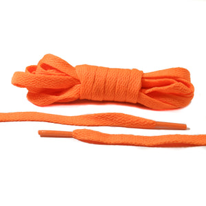 Neon Orange Flat Laces - Thin
