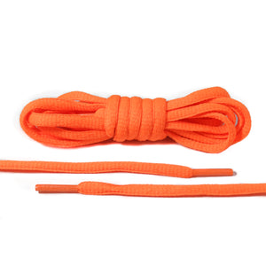 Neon Orange Oval Laces