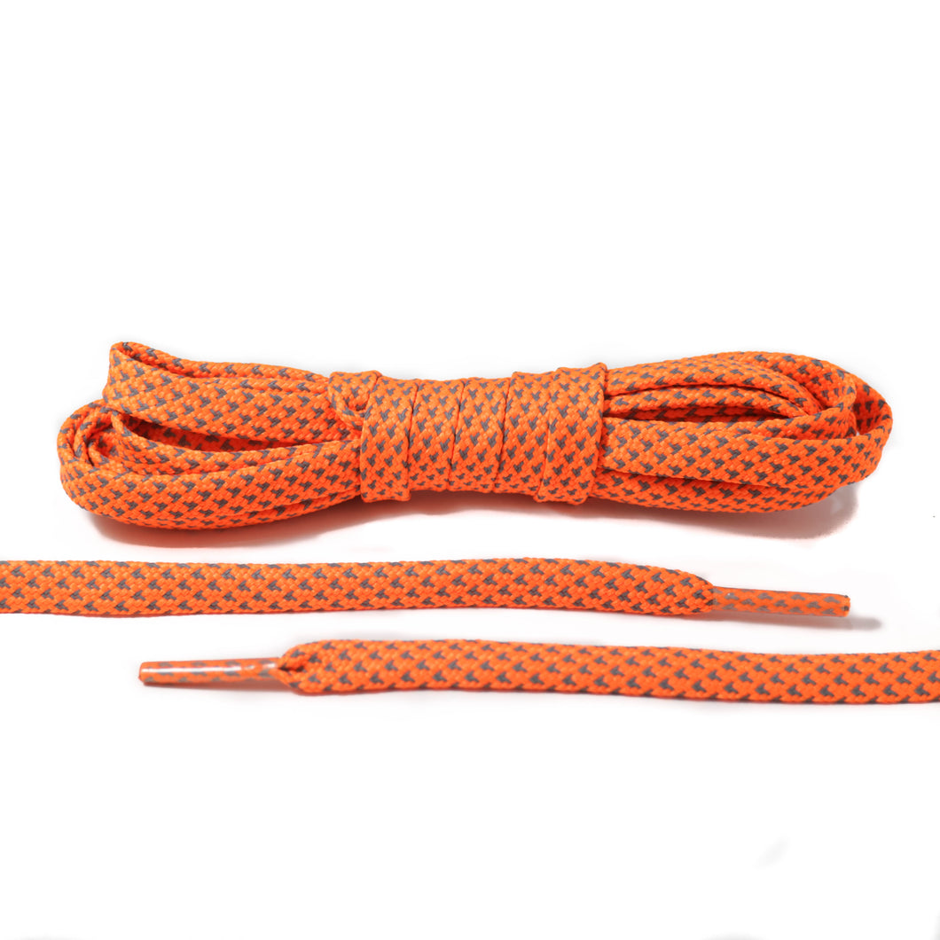 Neon Orange 3M Reflective Flat Laces