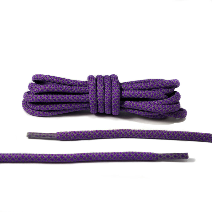 Purple Reflective 3M Rope Laces
