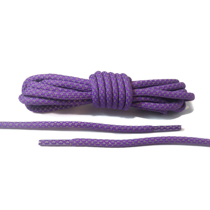 Purple 3M Reflective Rope Laces 2.0