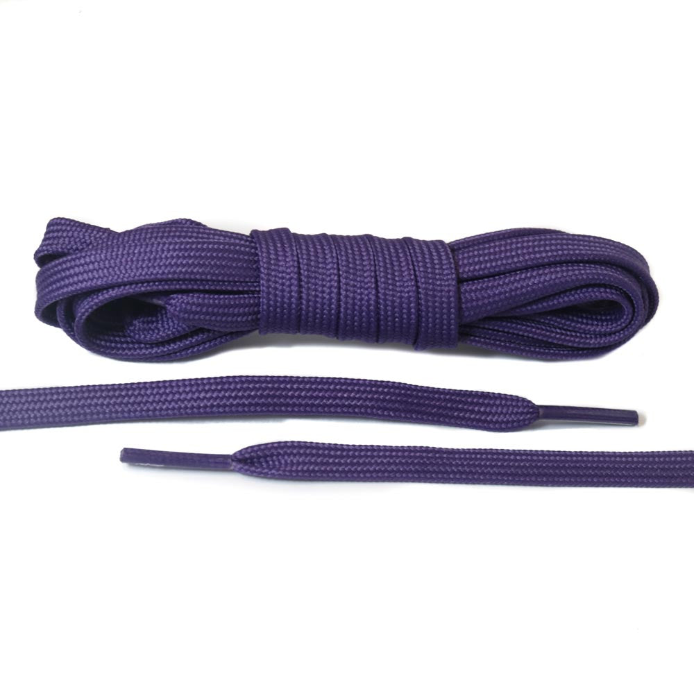 Dark Purple Flat Laces (Hollow)