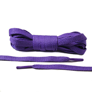Purple Flat Laces - Thin
