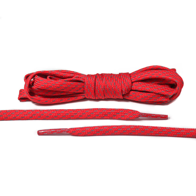 Red 3M Striped Flat Laces