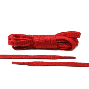 Red Flat Laces - Thin