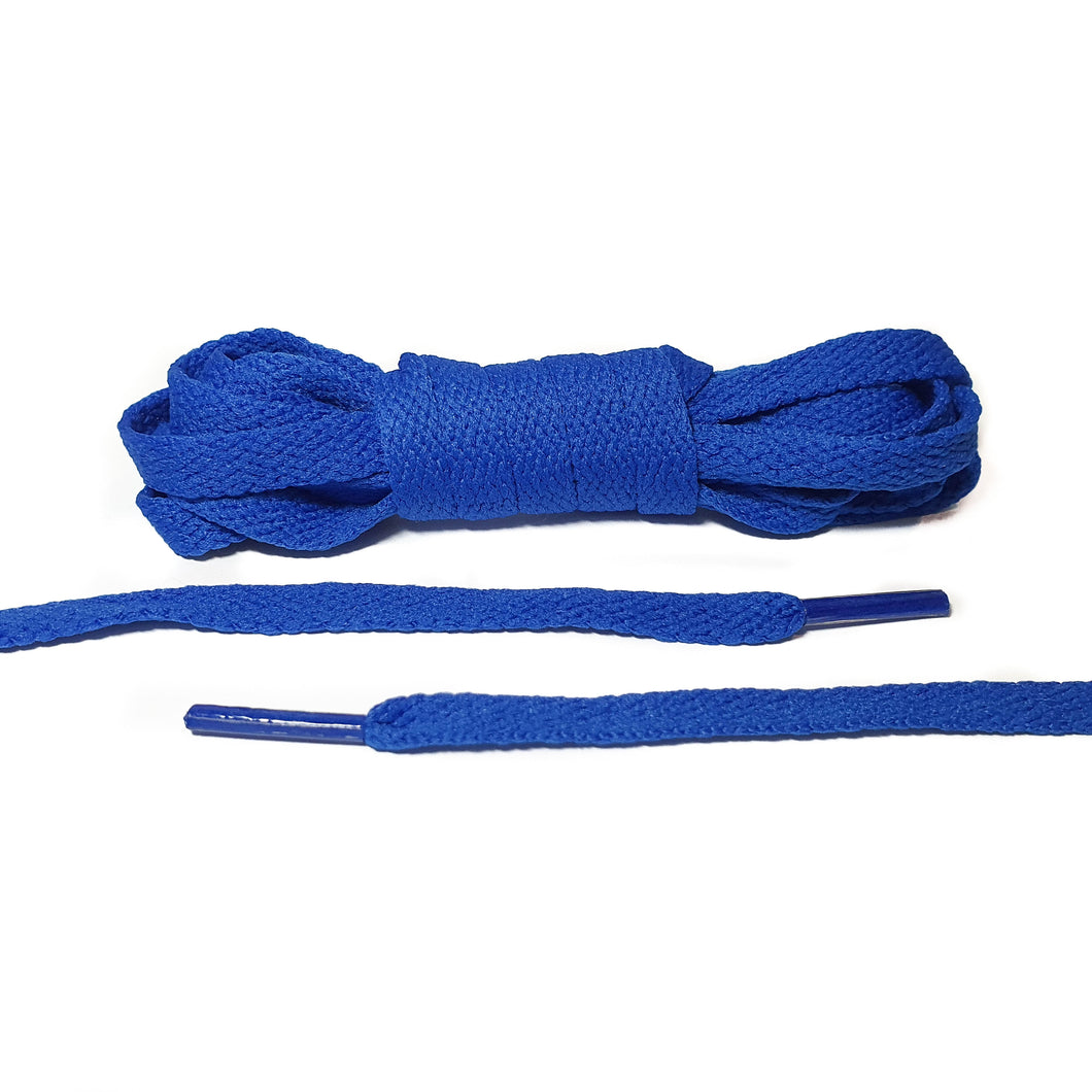 Royal Blue Flat Laces - Thin