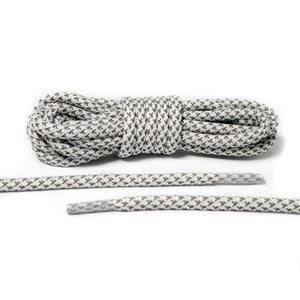 ab69d824400 White 3M Reflective Rope Laces 2.0 – Hyperlaces