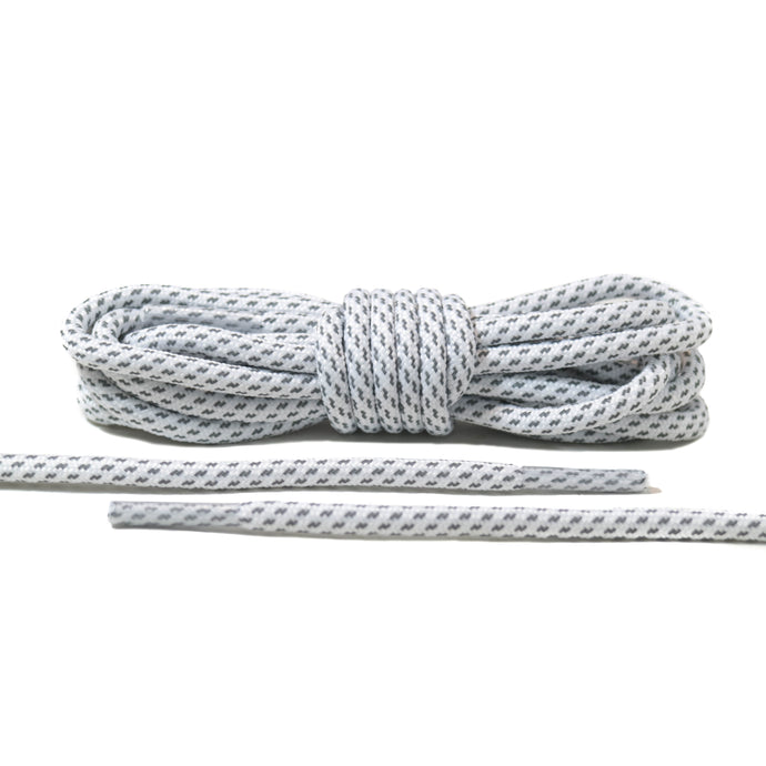 White 3M Striped Rope Laces