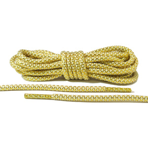White and Gold Rope Laces 2.0