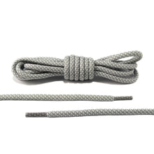 White and Grey Rope Laces