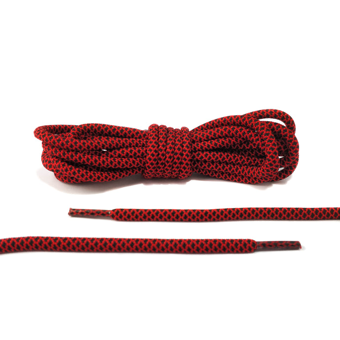Black and Red Rope Laces