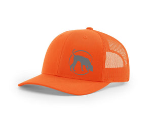 Southern Houndsman Blaze Orange logo Mesh back hat