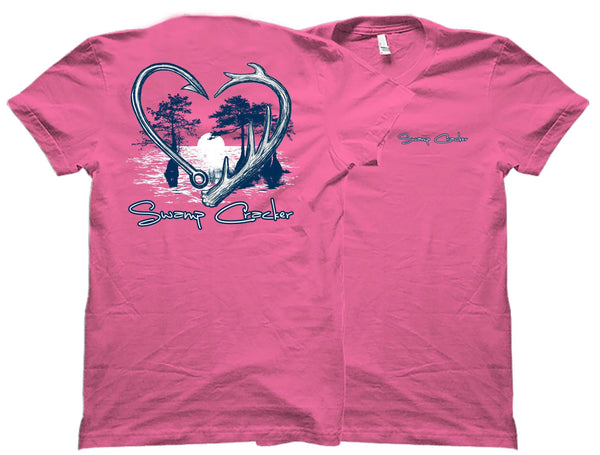 Hook and Horn Heart Swamp Cracker T-Shirt