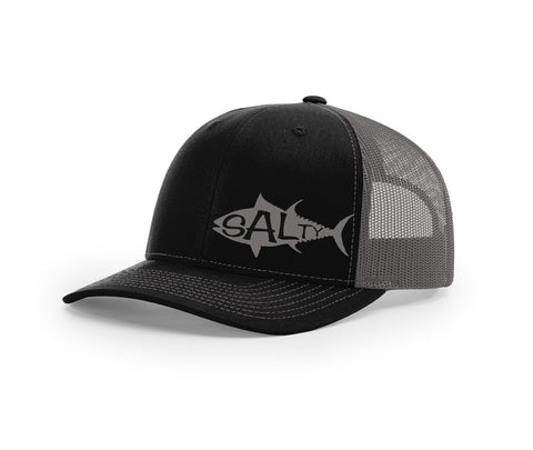 Tuna Outline Salty Cracker Snapback Hat