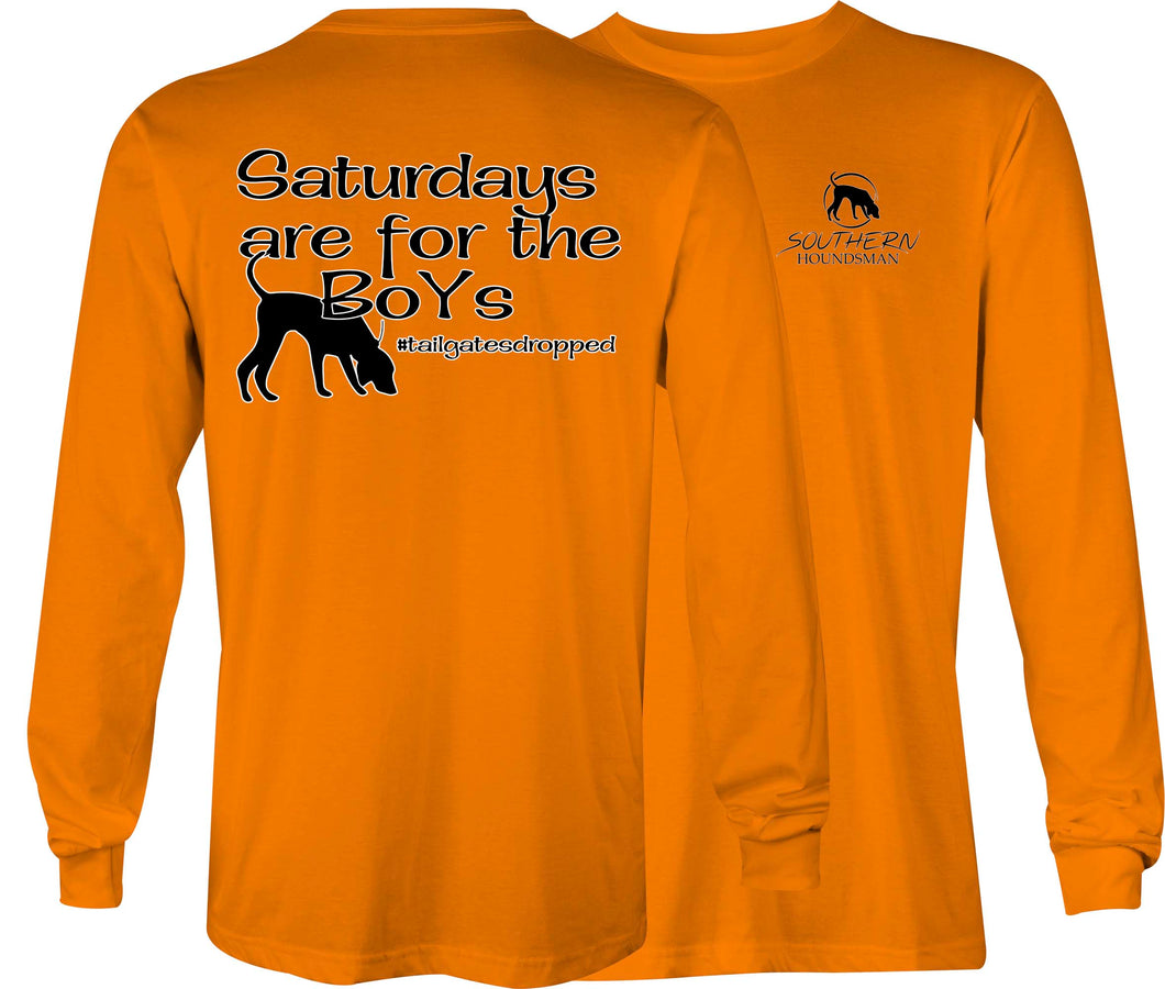 Southern Houndsman Saturdays are for Boys Long Sleeve Shirt