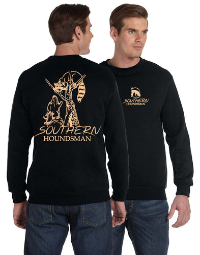 Southern Houndsman Coon Up Close Black Long Sleeve Shirt