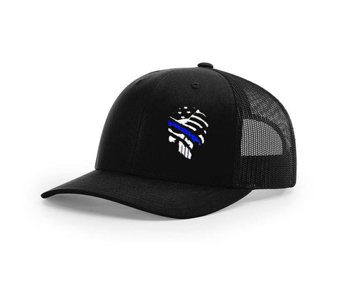 Thin Blue Line Skull Tactical Cracker Hat