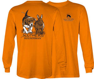 Southern Houndsman Beagle Chasing Rabbit Long Sleeve Shirt